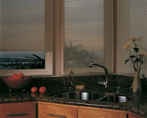 Kitchen Window Coverings - Duette Honeycomb Shades
