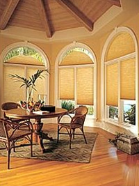 Honeycomb Shades for Specialty Shaped Windows